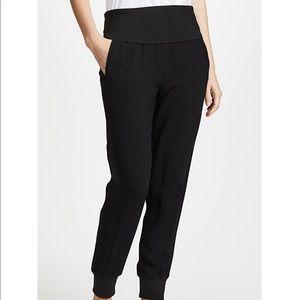 Theory black rib jogger dress pant w/pockets